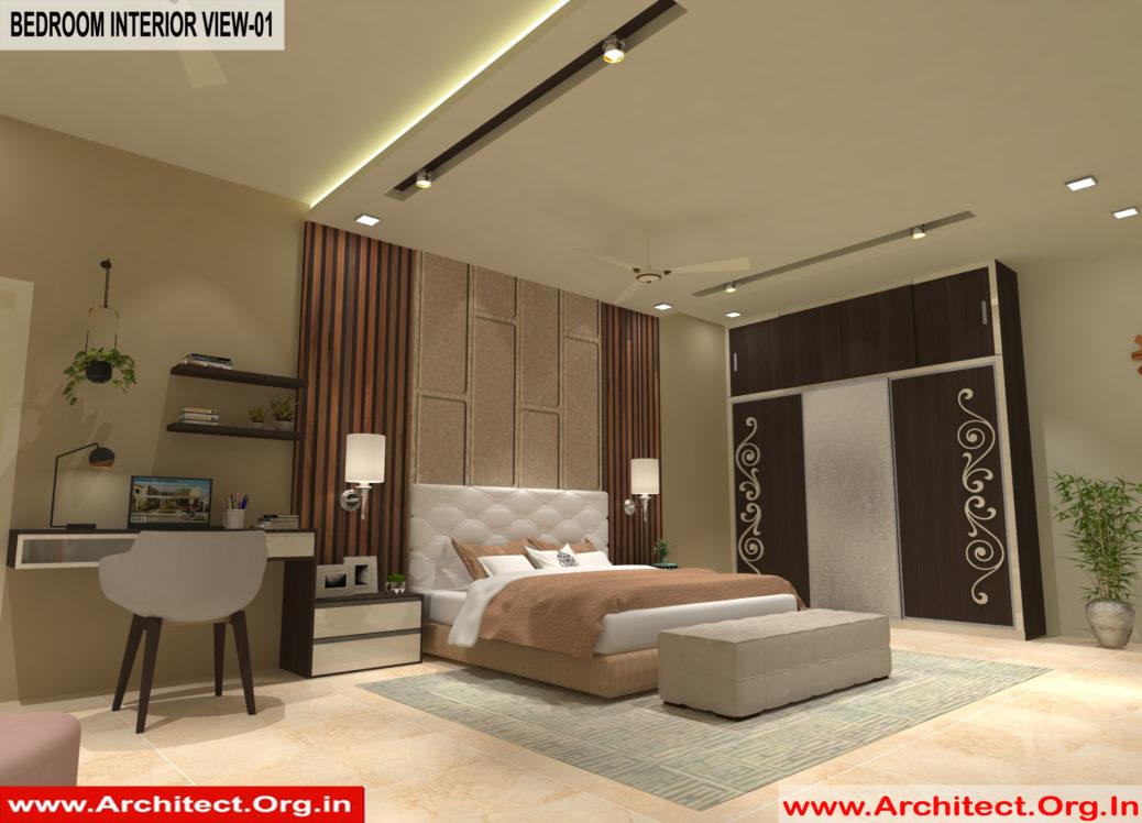 Master Bed room Inerior Design view 01 - Gorakhpur UP -Mr. Divya Prakash Shukla