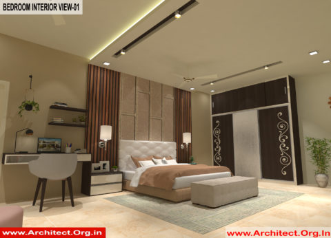 Master Bed room Inerior Design view 01 - Gorakhpur UP -Mr. Divya Prakash Shukla
