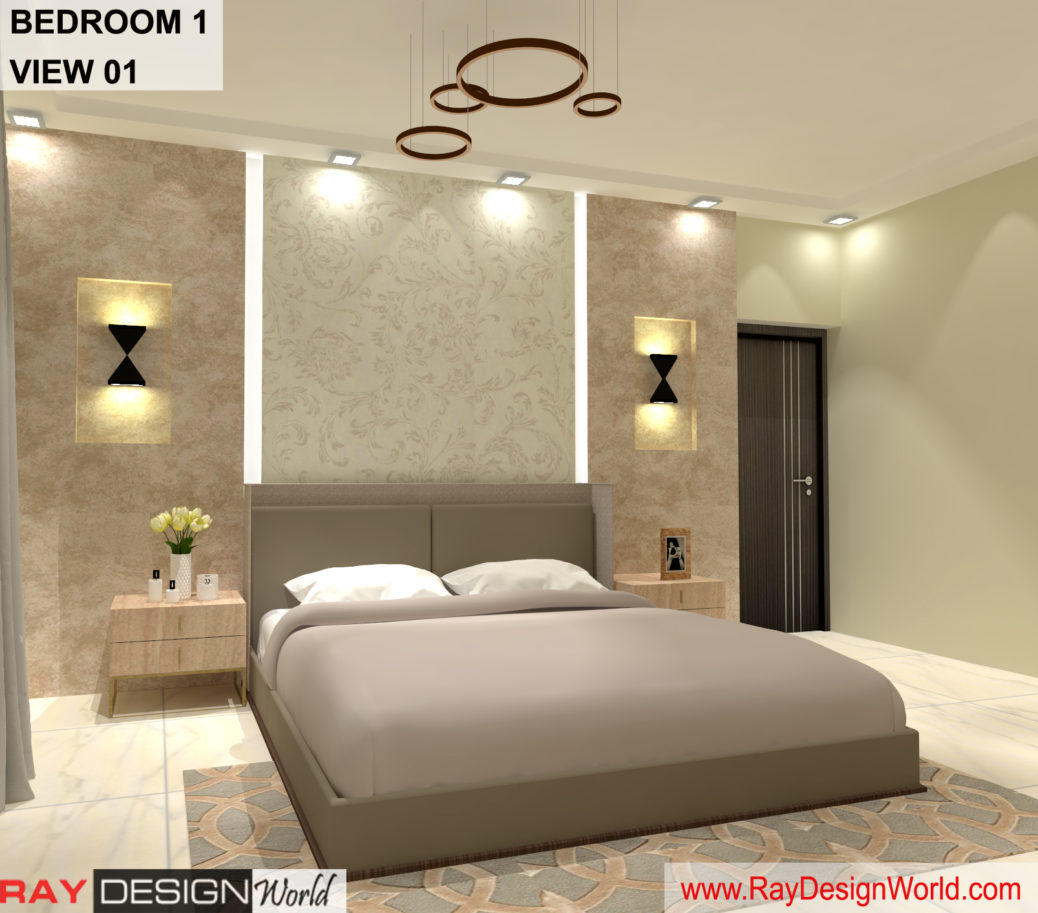 House Interior Bedroom 1 Design – Bhavnagar Gujarat – Mr Amin Lakhani – 3