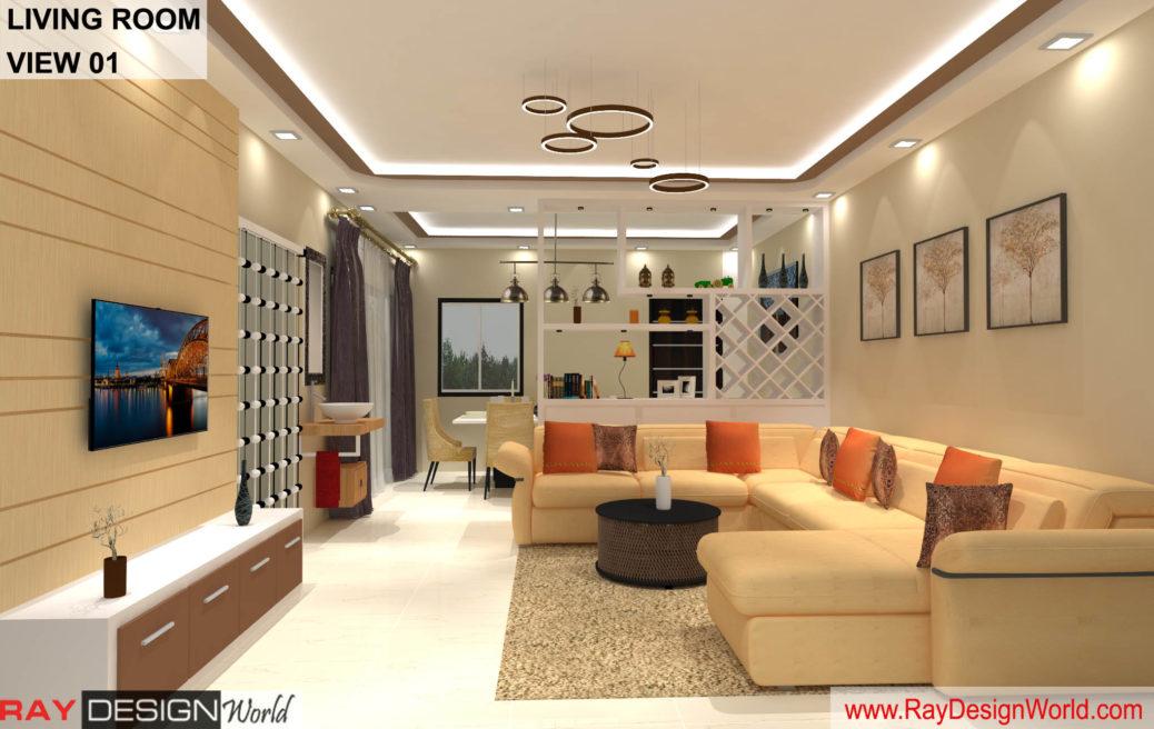 House Interior Living Hall Design – Bhavnagar Gujarat – Mr Amin Lakhani – 2